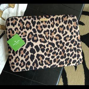 Kate Spade ♠️ 13 Inch Leopard Laptop Case BNWT